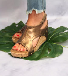 Out and About Wedge Bronze