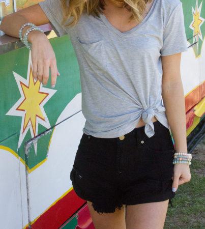 Black Denim Shorts 1