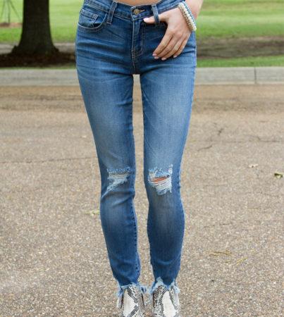 Frayed Denim Skinnies 4