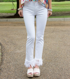 White Frayed Skinnies