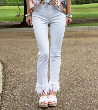 White Frayed Skinnies 2
