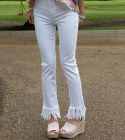 White Frayed Skinnies 3