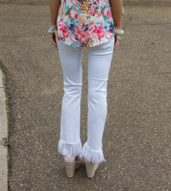 White Frayed Skinnies 4