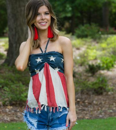 American Flag Halter 1
