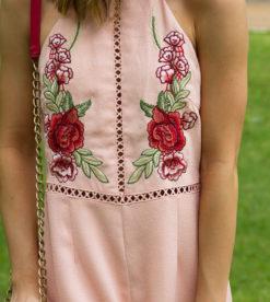 Bed Of Roses Romper Peach 5