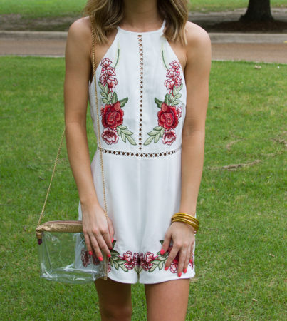 Bed Of Roses Romper White