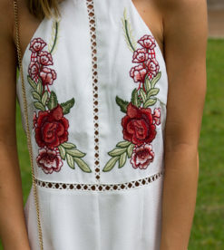 Bed Of Roses Romper White 2