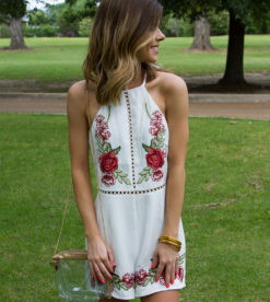 Bed Of Roses Romper White 3