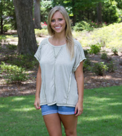Inside Out Tee Light Olive 1