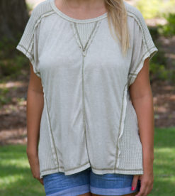 Inside Out Tee Light Olive 2