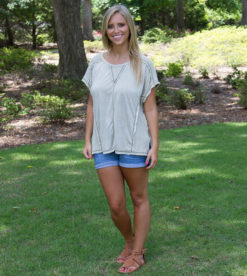 Inside Out Tee- Light Olive