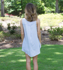 Lace Up In Stripes Blue 3