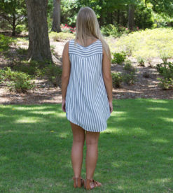 Laced Up In Stripes Top Grey 1