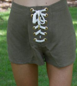 Laced Up Shorts Olive 3