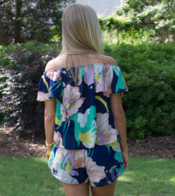 May Flowers Top Navy 3