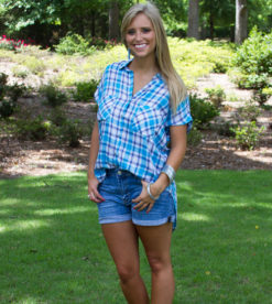Pool Party Plaid Top