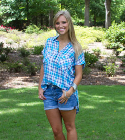 Pool Party Plaid Top 2