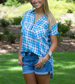 Pool Party Plaid Top 3