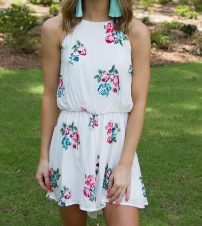 Sippin Rose Romper