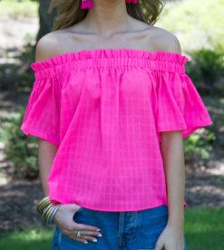Bubblegum Pink Blouse 4