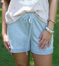 Grey Drawstring Shorts 2