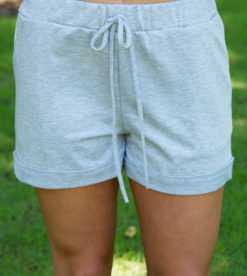Grey Drawstring Shorts 4
