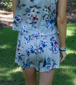Malibu Floral Shorts Grey 2