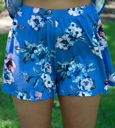 Malibu Floral Tank Blue Shorts