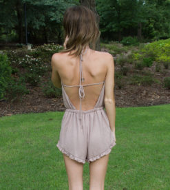 Fell The Heat Romper Taupe 1