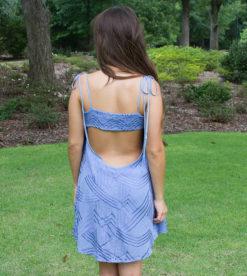 Solid Geo Dress Blue 2