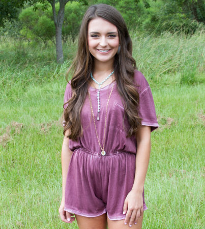 The Basics Romper Plum