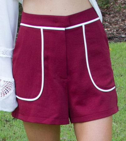 Preppy Burgundy Shorts