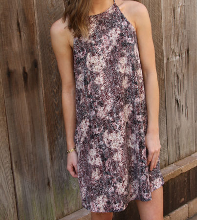 Burg BrushStroke Dress 4