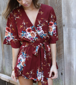 Burgundy Fields Romper