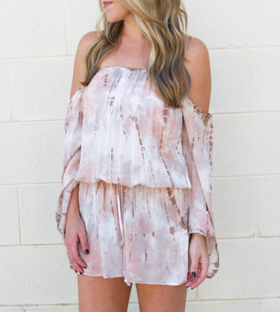 Fall Season Tie Dye Romper