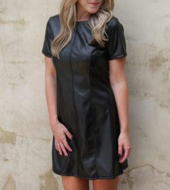 Little Black Leather Dress 4