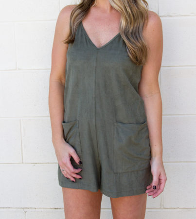 Loosen Up Suede Romper 2