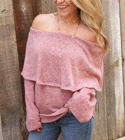 Mauve Beauty Sweater Top 2
