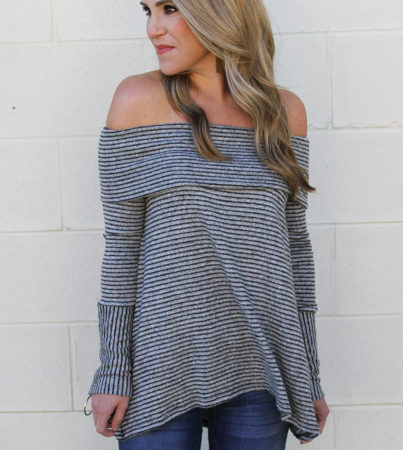 Stripe Goddess Grey