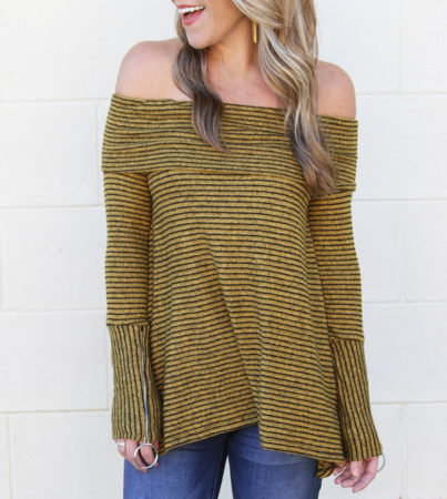 Stripe Goddess Mustard 3