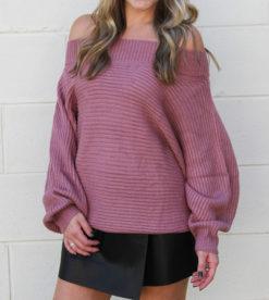 Twister Sweater Mauve