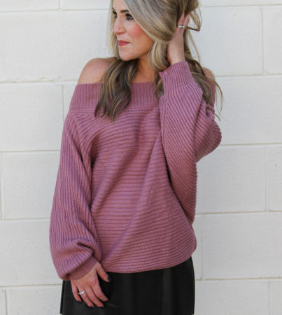 Twister Sweater Mauve 2
