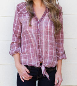 Meant For Me Plaid Top 3