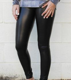 Sleek Leather Leggings