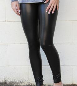 Sleek Leather Leggings 2