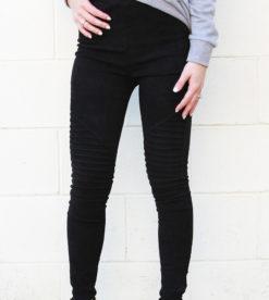 Suede Leggings Black 2