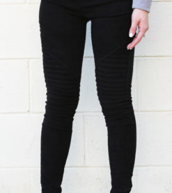 Suede Leggings Black 3