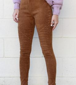 Suede Leggings Camel