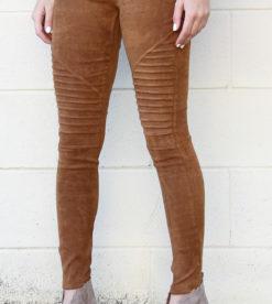 Suede Leggings Camel 2