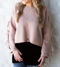 Cropped and Tied Sweater